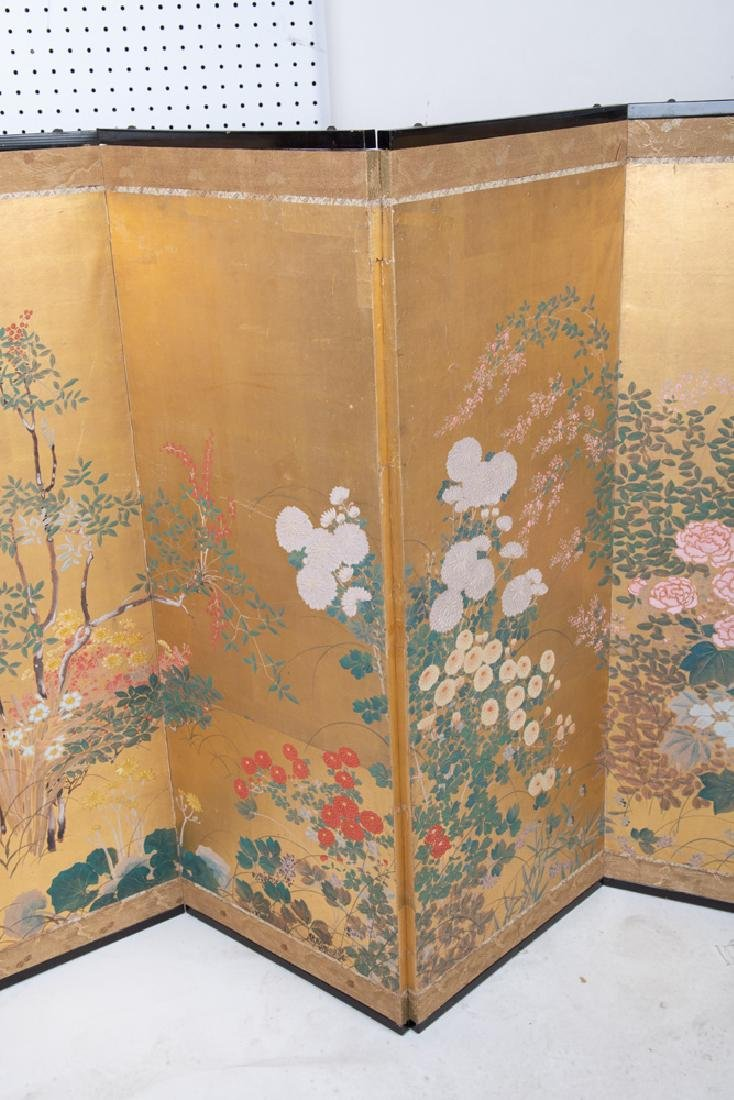 JAPANESE SIX-PANEL SCREEN - 8