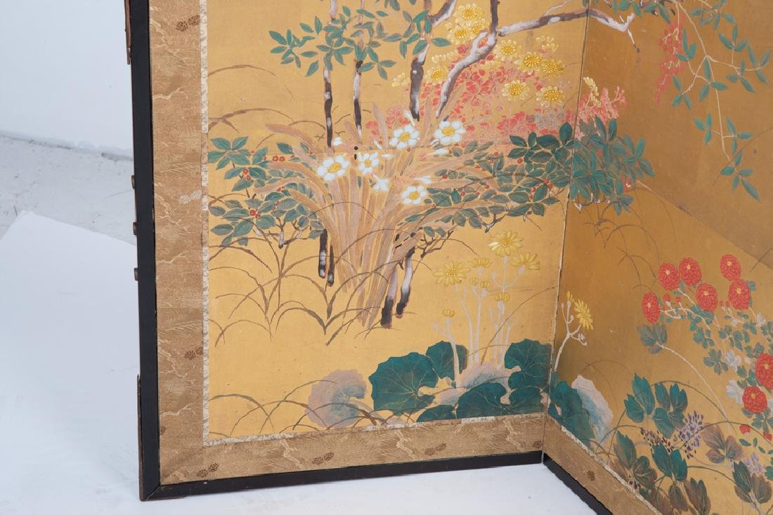 JAPANESE SIX-PANEL SCREEN - 9