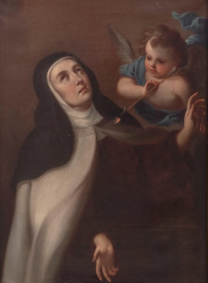 "ATTRIBUTED TO MIGUEL CABRERA: ""SANTA TERESITA DE JESUS"""