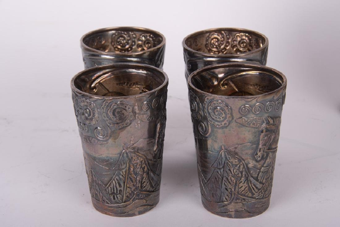 RUSSIAN FOURTEEN-PIECE SILVER DRINK SET - 5