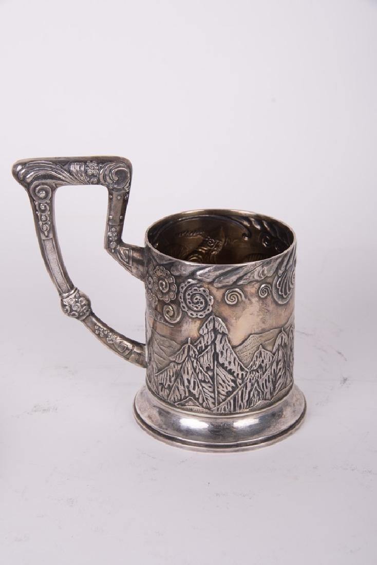 RUSSIAN FOURTEEN-PIECE SILVER DRINK SET - 7