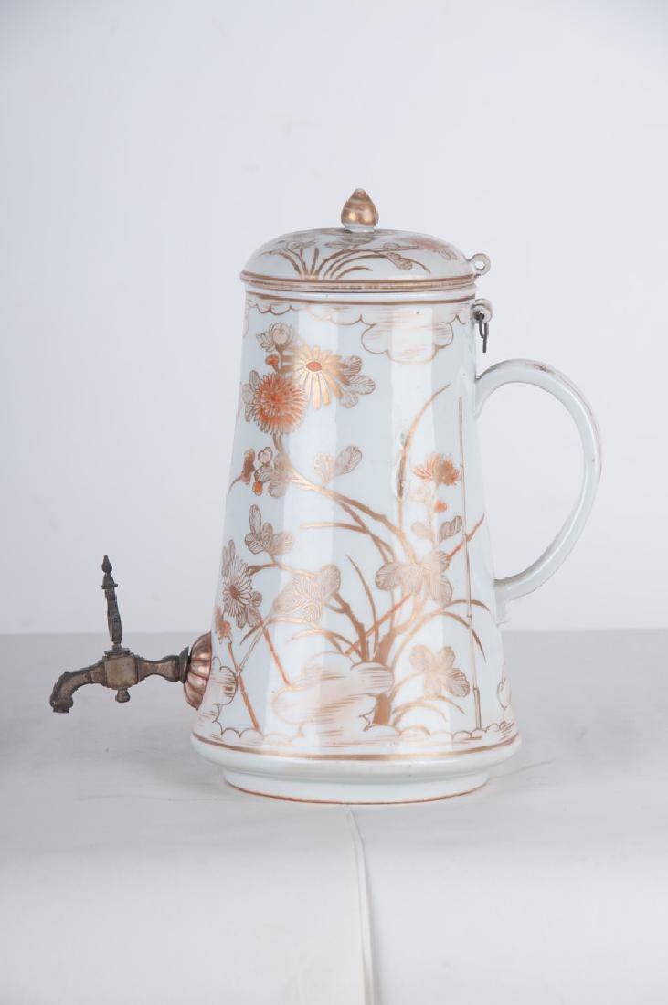 CHINESE EXPORT PORCELAIN TEAPOT - 8