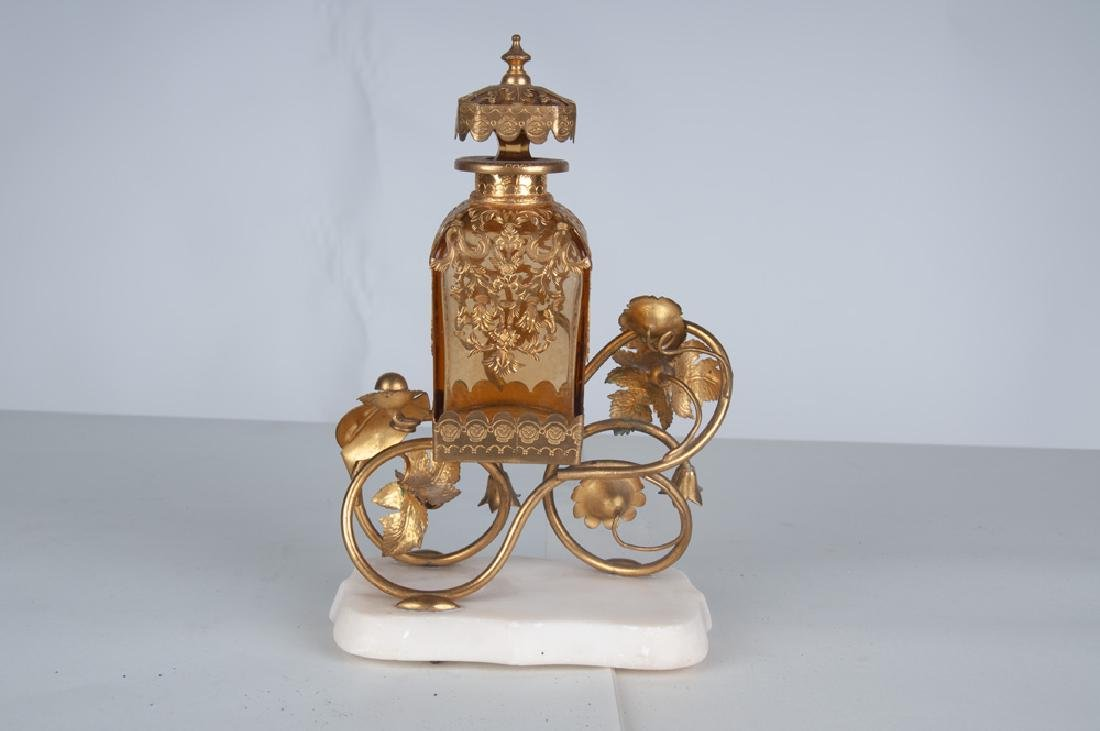FRENCH BRONZE & GLASS PERFUME - 4