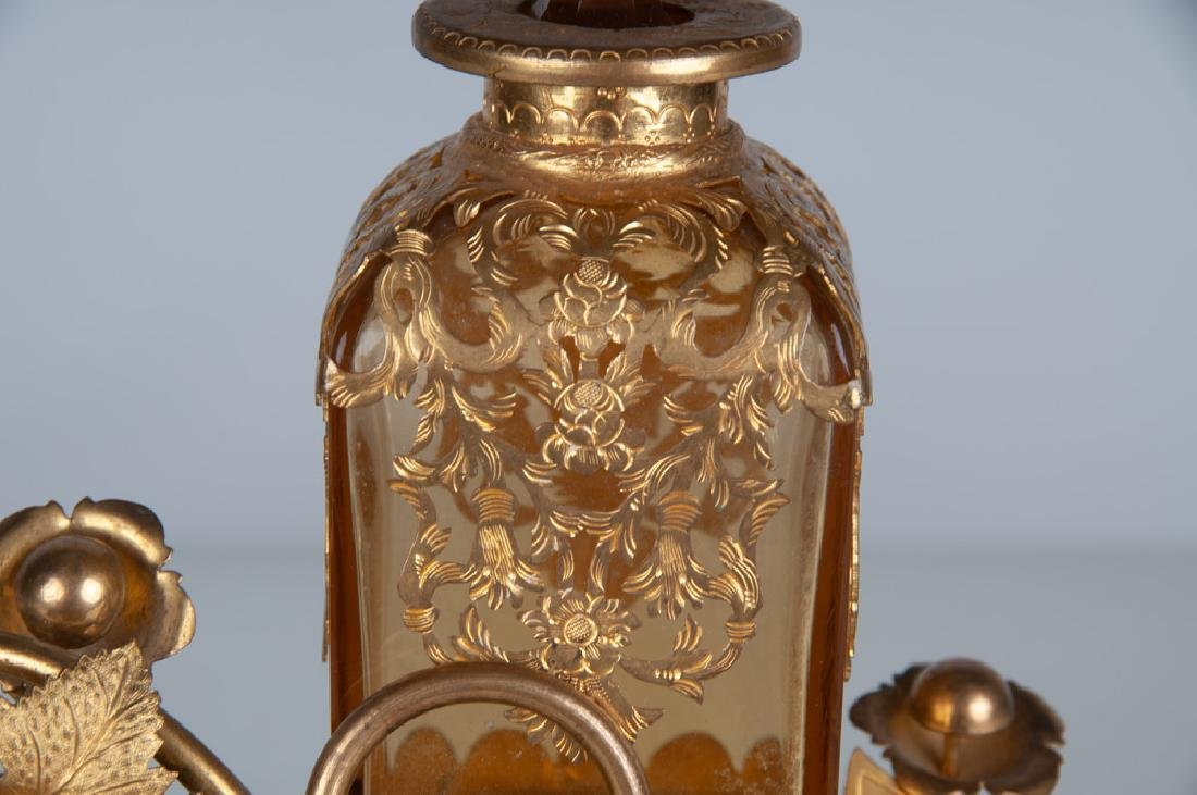 FRENCH BRONZE & GLASS PERFUME - 9