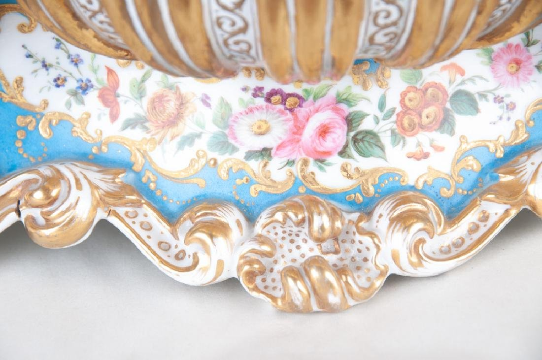 FRENCH PORCELAIN INKWELL - 4