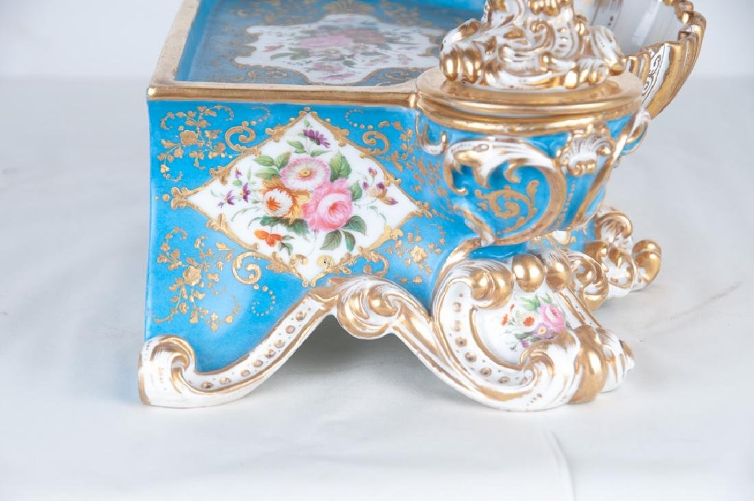 FRENCH PORCELAIN INKWELL - 9