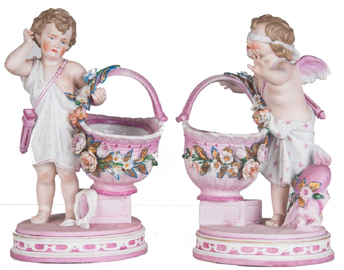 PAIR OF KPM PORCELAIN CHERUBS