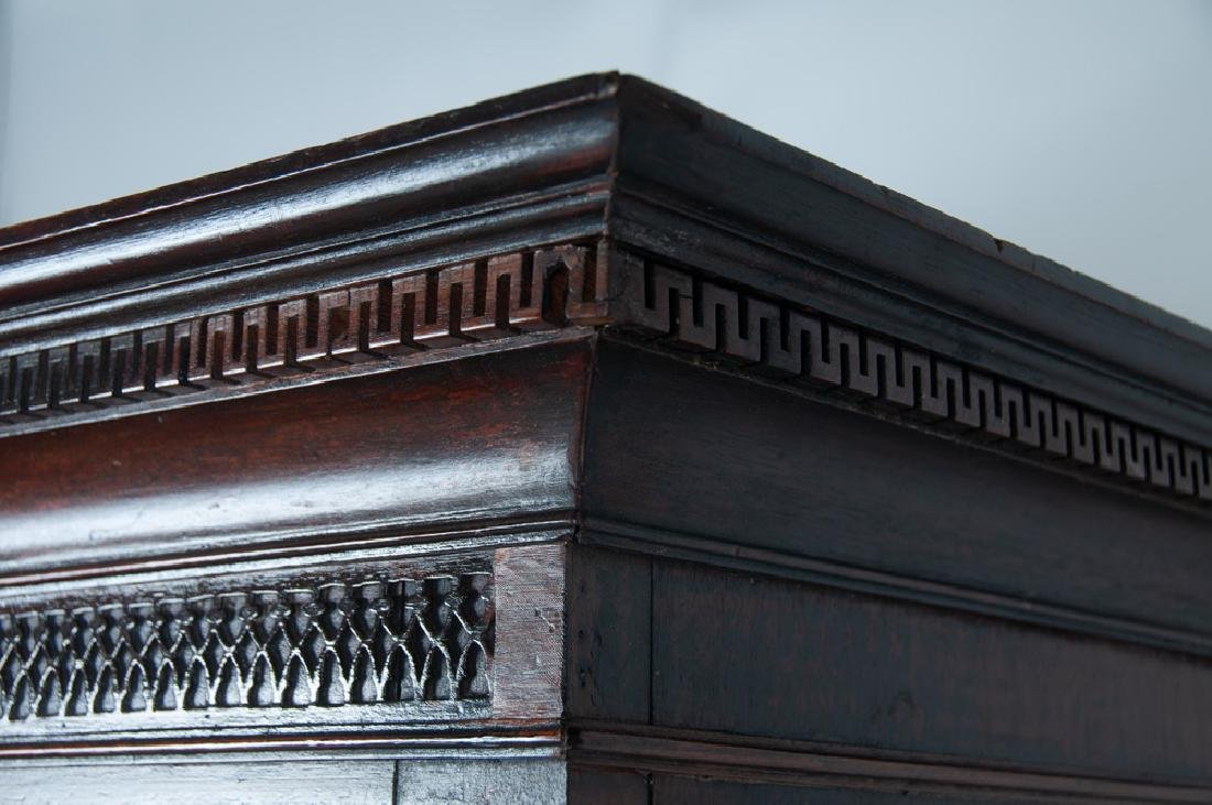 GEORGE III MAHOGANY CHEST ON CHEST - 3