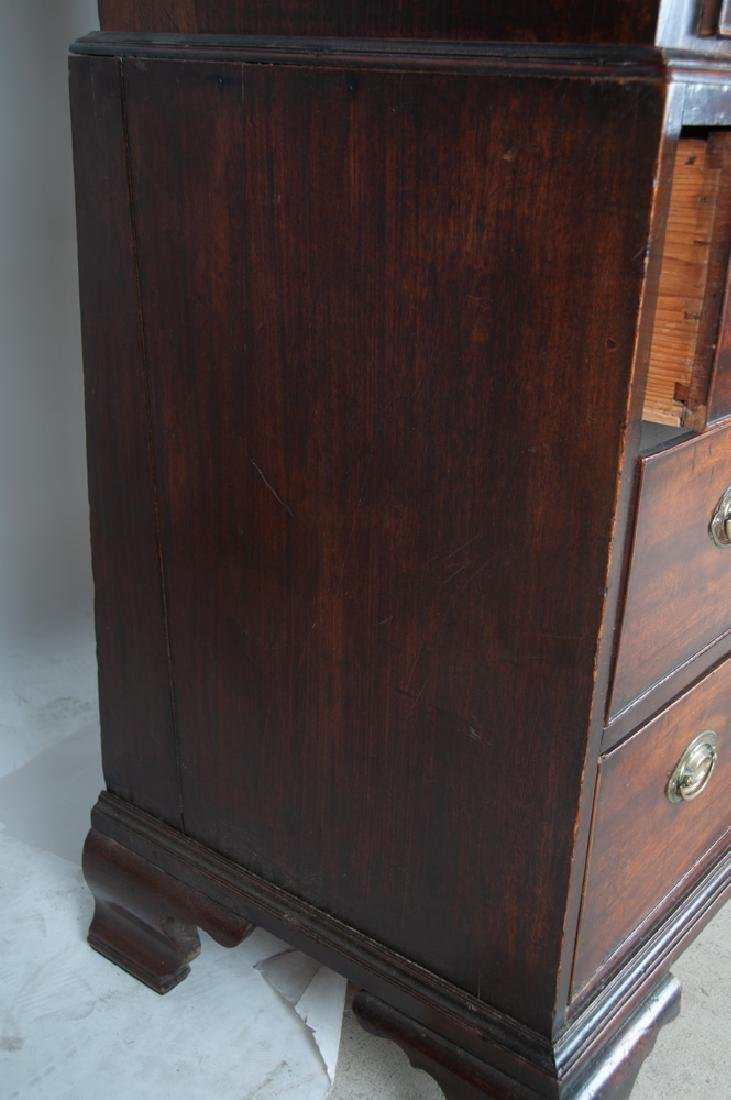 GEORGE III MAHOGANY CHEST ON CHEST - 5