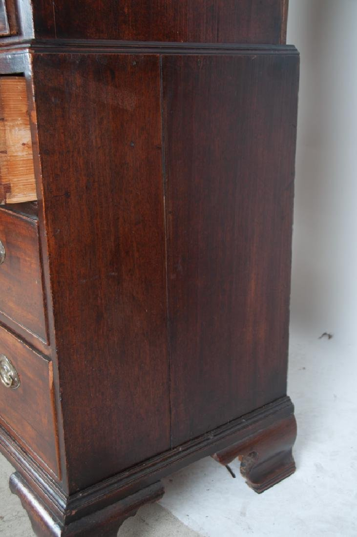 GEORGE III MAHOGANY CHEST ON CHEST - 6