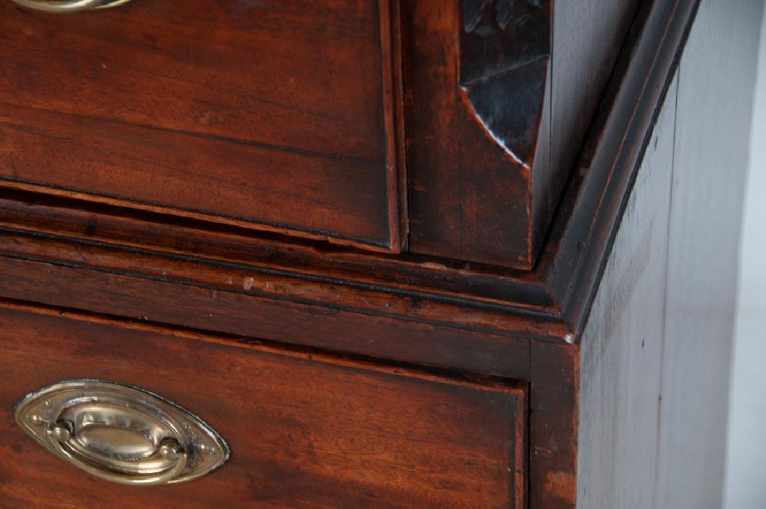 GEORGE III MAHOGANY CHEST ON CHEST - 9