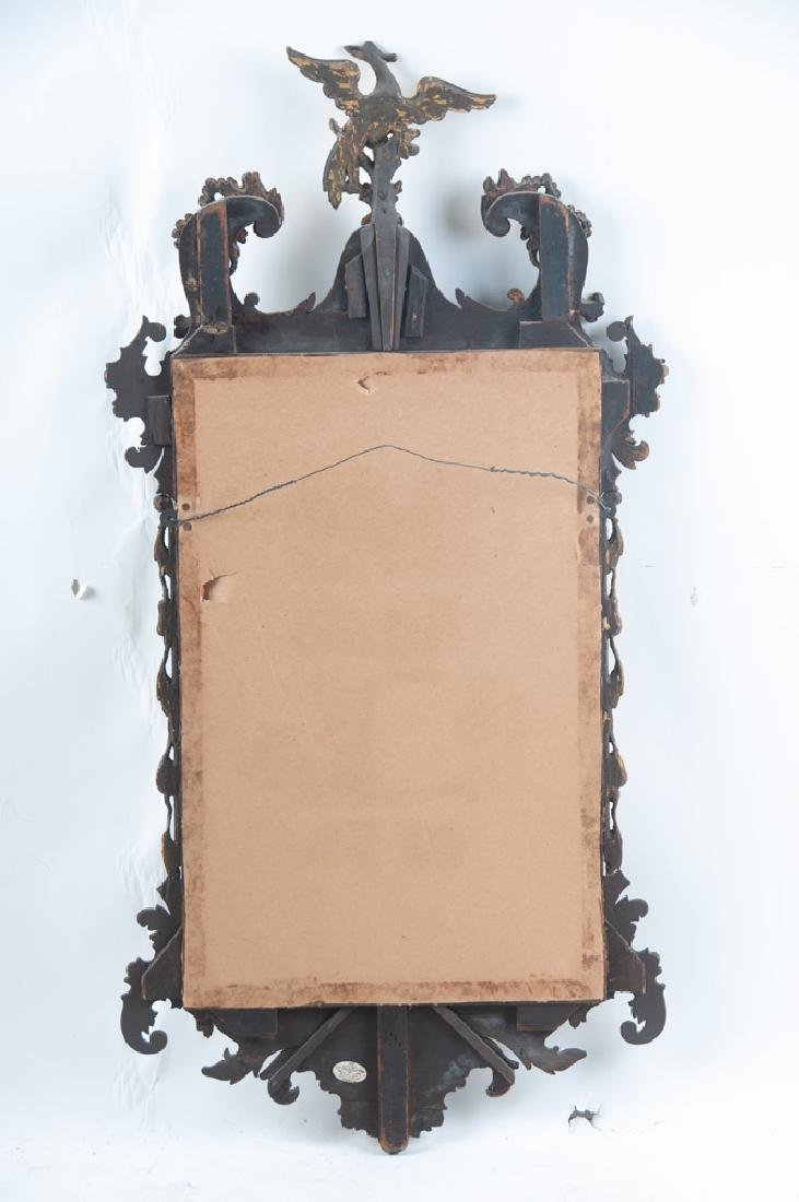 AMERICAN CHIPPENDALE MAHOGANY & GILDED MIRROR - 2