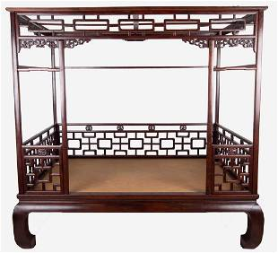 CHINESE HARDWOOD BED