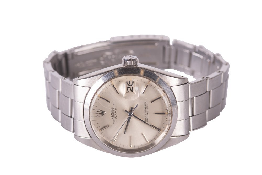 ROLEX STAINLESS STEEL OYSTER PERPETUAL DATEJUST WATCH