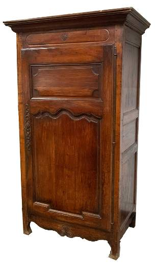 FRENCH CARVED FRUITWOOD BONNETIERE