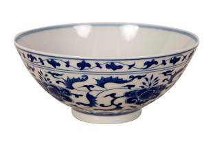 CHINESE BLUE WHITE BOWL