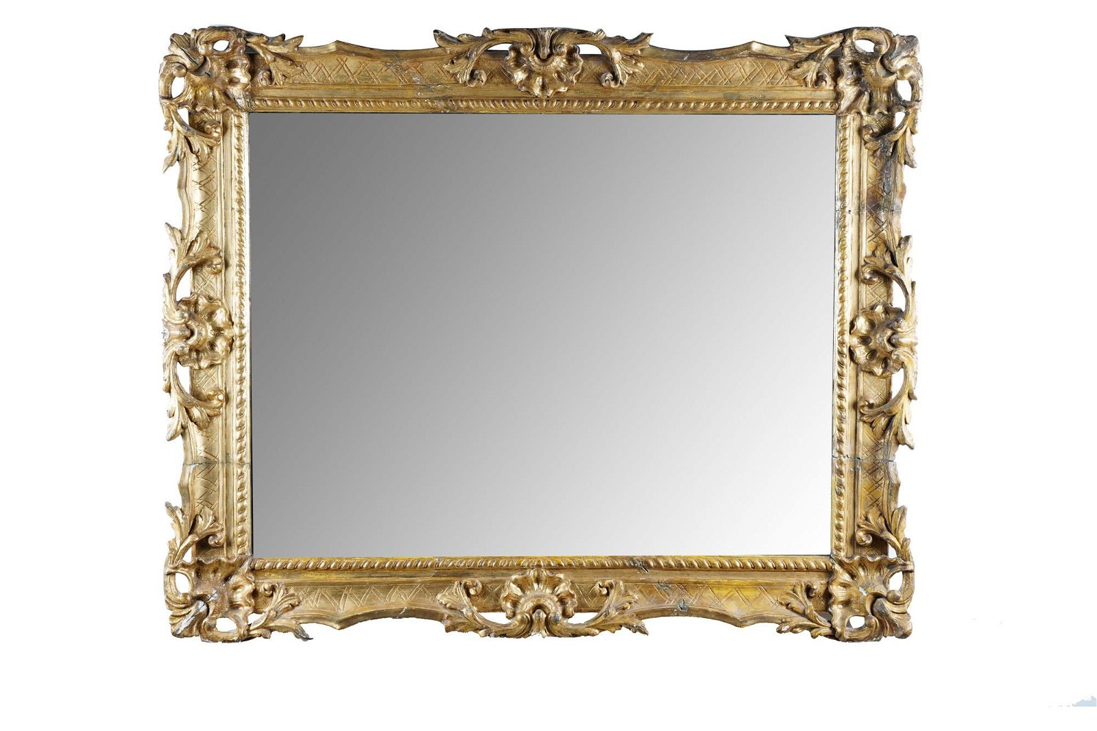FRENCH GILT CARVED WOOD MIRROR