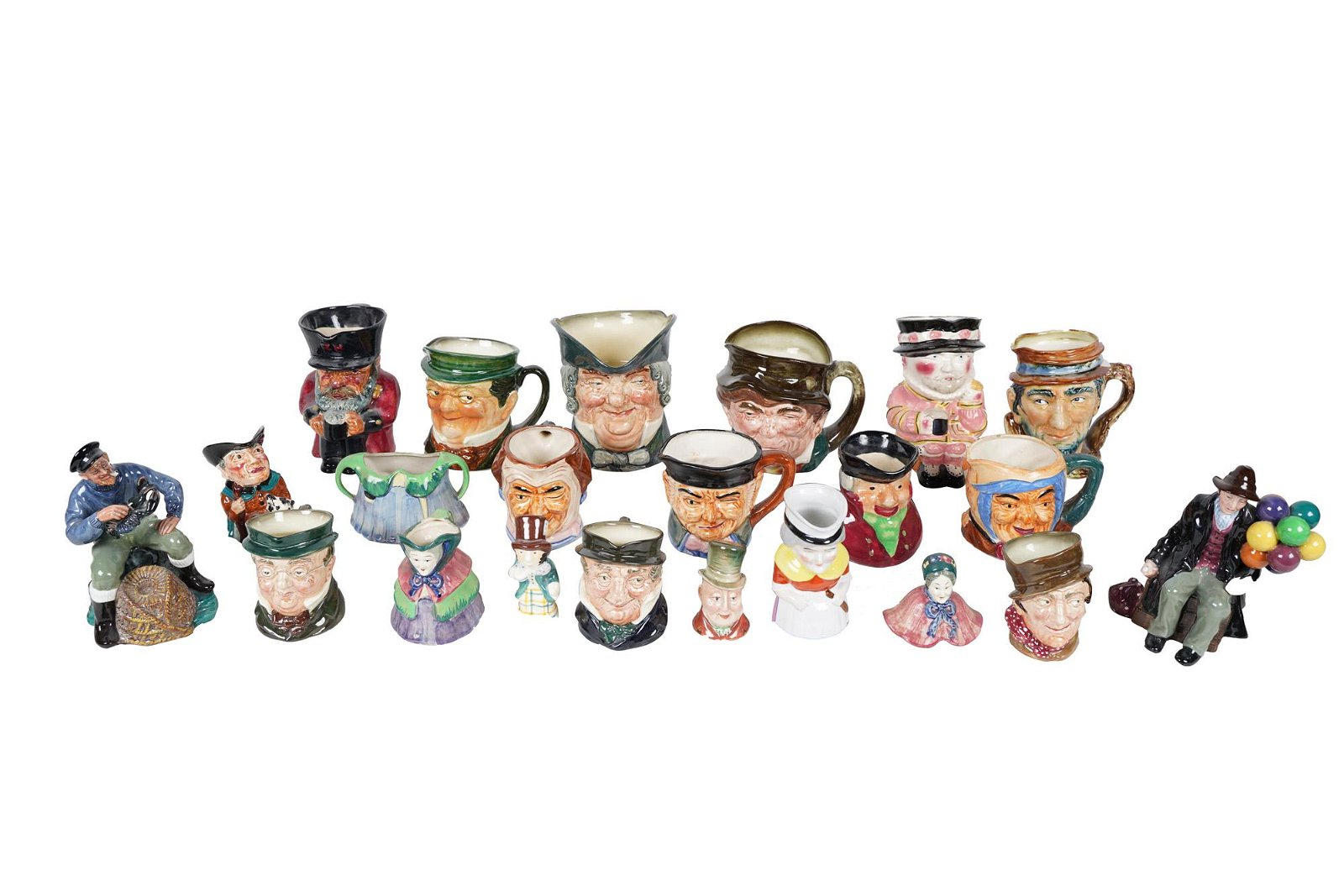 COLLECTION OF TOBY MUGS & FIGURINES