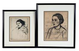 WILLIAM AUERBACH-LEVY: TWO PORTRAIT PRINTS