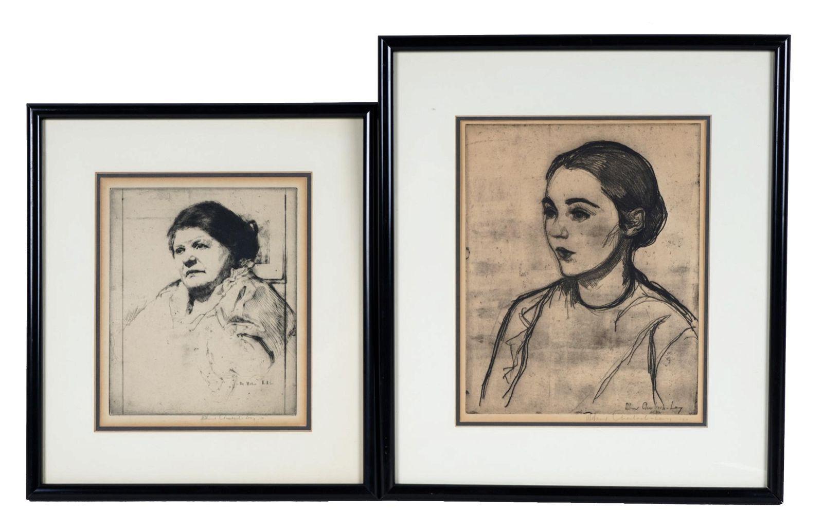 WILLIAM AUERBACH-LEVY: TWO PORTRAIT PRINTS