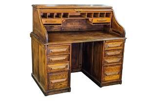 305 Oak Roll Top Desk Buchan Loose Leaf Records Compa Mar 24 2009 Uniques Antiques Inc In Pa