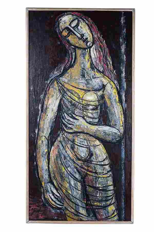 TIBOR JANKAY: ABSTRACT FEMALE FIGURE