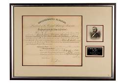RUTHERFORD B. HAYES (1822 - 1893): SIGNED DOCUMENT