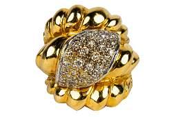 14 KARAT YELLOW GOLD & DIAMOND RING
