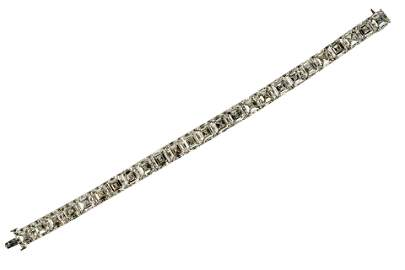 PLATINUM & DIAMOND STRAIGHTLINE BRACELET