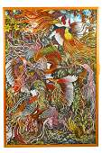 SOUTHEAST ASIAN PAINTING OF BIRDS