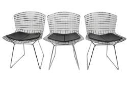 SET OF SIX HARRY BERTOIA FOR KNOLL CHAIRS