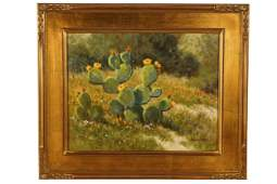 "DAVID CHAPPLE (B. 1947: ""CACTUS FLOWER"""