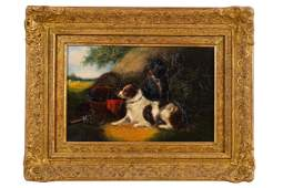 ATTRIBUTED TO GEORGE ARMFIELD (1808 - 1893): DOGS IN