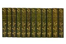 12 LEATHER-BOUND VOLUMES: HENRY FIELDING