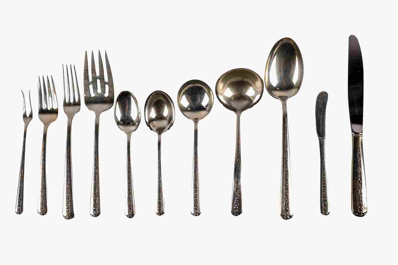 TOWLE STERLING FLATWARE SERVICE