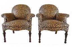 PAIR OF CLOSED ARMCHAIRS