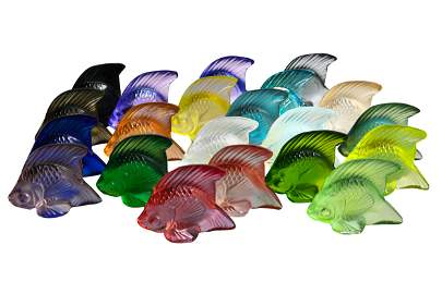 COLLECTION OF LALIQUE FISH