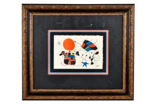 JOAN MIRO (1893 - 1983): ABSTRACT
