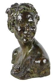 "ALFREDO PINA (1883 - 1966): ""HEAD OF BACCHUS"""