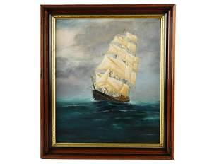 UNKNOWN ARTIST: CLIPPER SHIP AT SEA