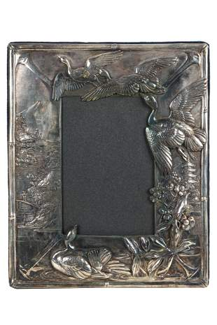 CHINOISERIE STERLING PICTURE FRAME
