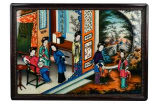 CHINESE REVERSE PAINTED PANEL
