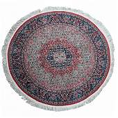 RED FIELD ROUND PERSIAN CARPET
