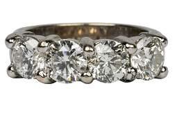 14 KARAT WHITE GOLD & DIAMOND RING