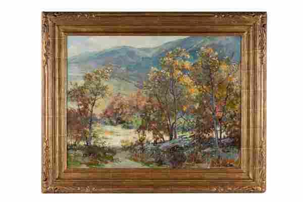 "JACK WILKINSON SMITH (1873 - 1949): ""SPRING LANDSCAPE"""