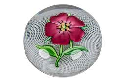 SAINT LOUIS PINK PELARGONIUM PAPERWEIGHT
