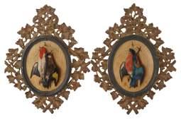 "MICHELANGELO MEUCCI (1840-1890): ""PAIR OF GAME BIRDS"""