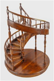 MAHOGANY STAIRCASE MAQUETTE