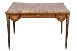 FRENCH ORMOLU-MOUNTED MARQUETRY SALON TABLE
