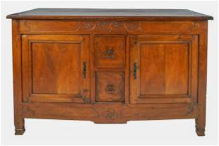 FRENCH PROVINCIAL CARVED WALNUT BUFFET